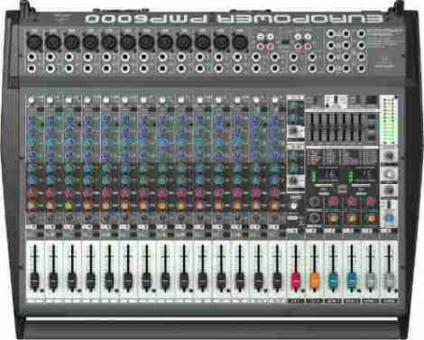 Behringer Pmp6000 Consola Amplificada 1600 Watts en Web Electro