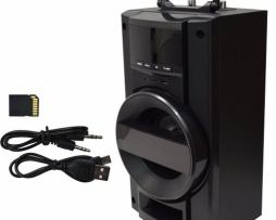 Bocina Amplificada Karaoke Sd Usb Fm Mp3 Recargable Mic1 Y 2