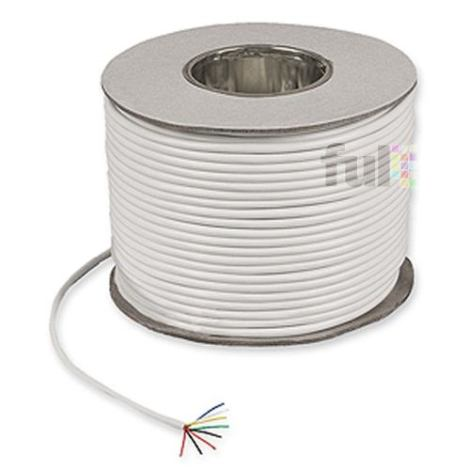 Cable 4 Hilos Cal 22 Blanco 305mts Ideal Para Alarmas en Web Electro