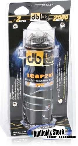 Capacitor 2 Faradios + 2000 Watts Voltimetro Azul Db Lcap2kf en Web Electro