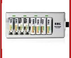 Cargador De Baterias O Pilas Aa Y Aaa Recargables 8 Simultan