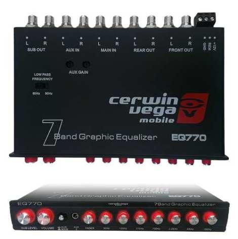 Ecualizador Cerwin Vega Eq770 7 Bandas 7 V Fidelidad Medios