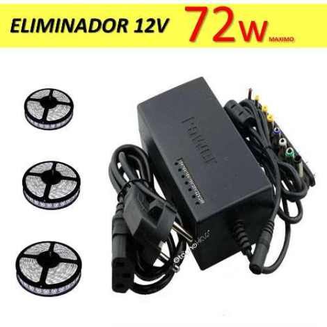 Eliminador 12v Transformador 72w Tiras Led Rollos Led 5050 en Web Electro