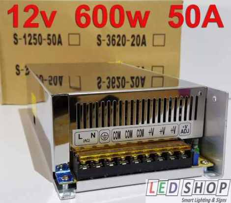 Fuente Poder 12v 600w 50a Led Driver Transformador Ledshopmx en Web Electro