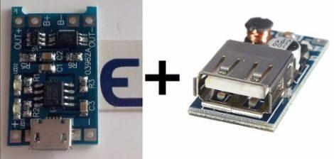 Kit Powerbank Módulo Cargador Baterías Litio Tp4056 + Pfm en Web Electro