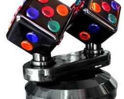 Luz Disco Doble Cubo Multicolor Nuevas Empacada