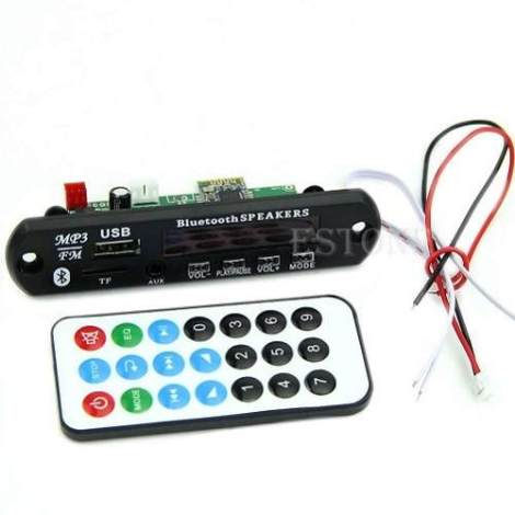 Modulo Decodificador Mp3 Bluetooth 12v Usb Sd Arduino