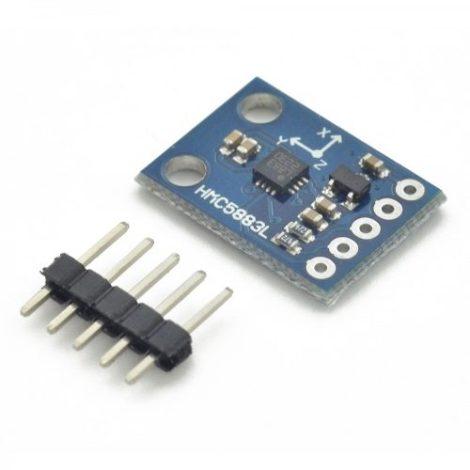 Módulo Magnetómetro Brújula De 3 Ejes Hmc5883l Interfaz Spi en Web Electro