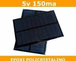 Panel Solar Celda 5v 150ma Policristalino Epoxi Pic Arduino