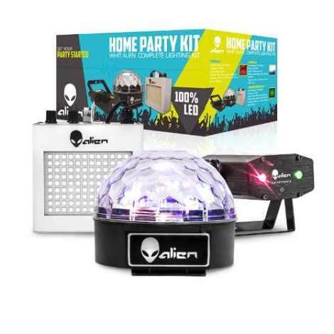 Paquete Pack Fiesta Luz Led Dj Home Party Disco Laser en Web Electro