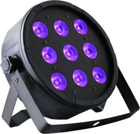 Par 64 100w Glow Led Dmx Rgb + Ultravioleta Luz Negra