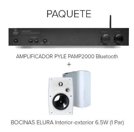 Pyle Amplificador Pamp2000 + Bocinas Elura Out 6.5 W (par) en Web Electro