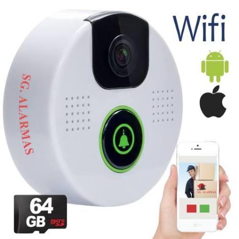 Timbre Camara Wifi Video Portero Inalámbrico Seguridad Casa en Web Electro