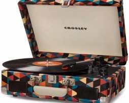 Tornamesa Crosley Tocadiscos Vinyl Tipo Maletín Triangulos en Web Electro
