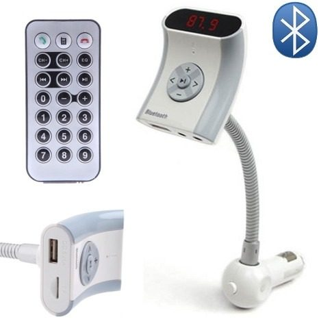Transmisor Fm Bluetooth Manos Libres Mp3 Tecnologia A2dp en Web Electro