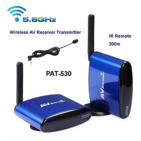 Transmisor Receptor Inalambrico Audio Y Video 5.8ghz 200mts.