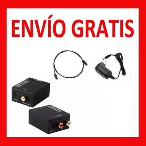 Envío Gratis Convertidor Audio Digital Toslink Rca + Regalos