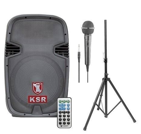 Bafle Amplificado 3500w Kaiser Usb Fm Bluetooth Tripie Mic