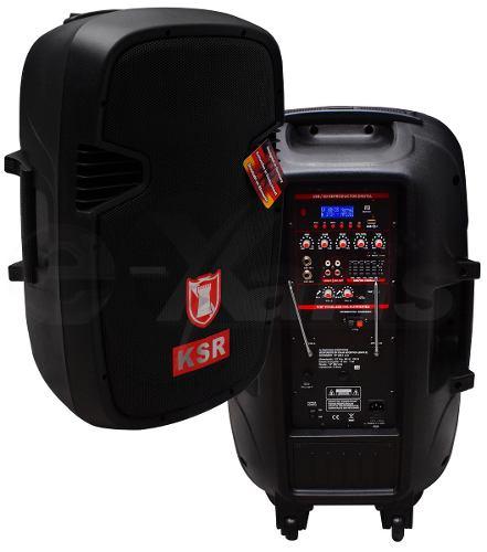 Bafle Bocina 8000w  Recargable  15 Amplificado Usb Bluetooth