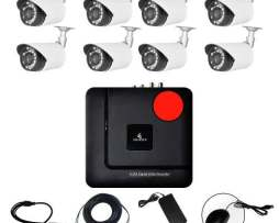 Kit Cctv Ahd Video Hd 720p Dvr 8 Camaras Circuito Vigilancia