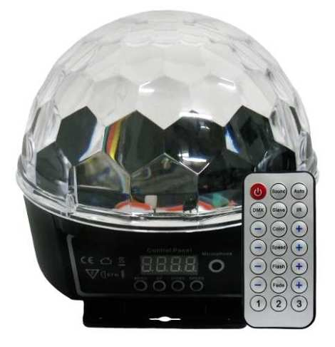 Luz Disco Led Dmx Crystal Ball Display Control Jelly Meteoro