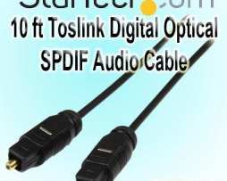 Startech Toslink Cable Audio Digital Optico 3 Mts Thintos10