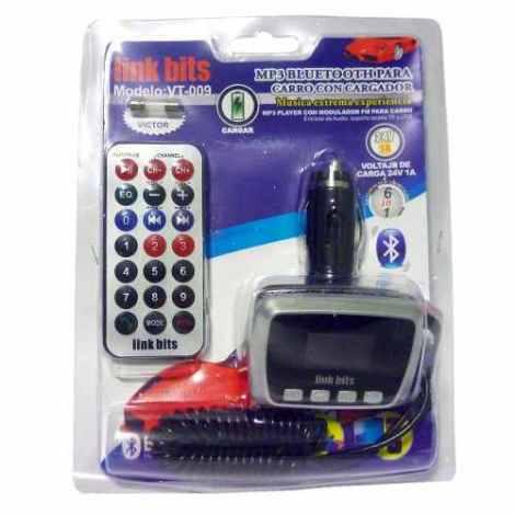 Transmisor Mp3 Bluetooth Para Coche Link Bits Vt-009 Música