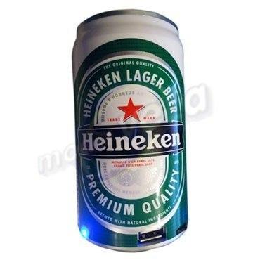 Bocinas Fm Sd Usb Recargables Lata Heineken Mini Usb Memoria