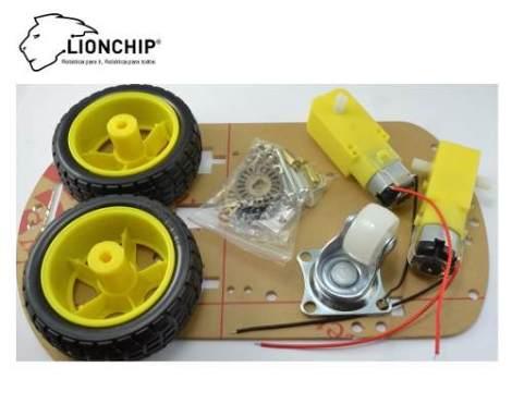 Chasis Para Robot Arduino Lionchip Motor Dc Chassis Carro