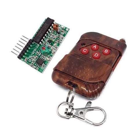 Control Remoto Y Receptor Rf 4 Canales 415mhz