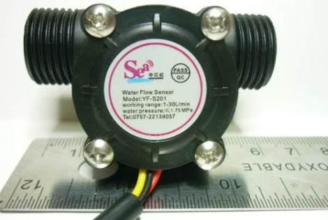 Sensor De Flujo De Agua 1/2  Arduino Pic Avr Robot Caudal