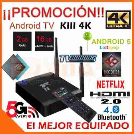 Tv Box Kiii K3 4k Android 5 2gb 16gb Mejor Q M9 Plus Regalos