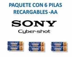 6 Baterias Recargable Sony Aa 2300 Mah 1.2v Cyber-shot Ni-mh