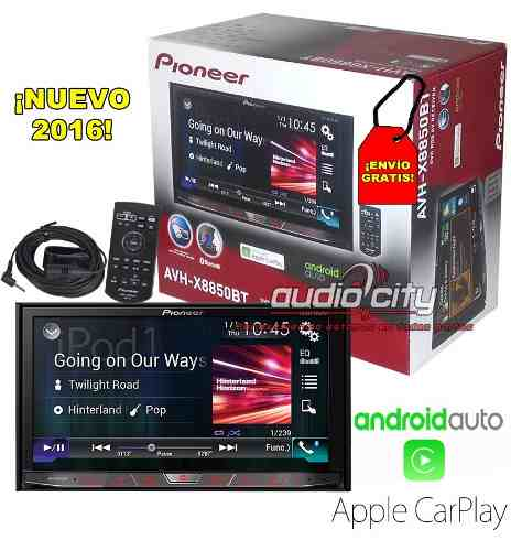 Autoestéreo Pioneer Avh-x8850bt Dvd Car Play Android Auto