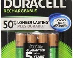 Duracell Recargable Aa  Nueva Gen Paq 4 Baterias 2500mah
