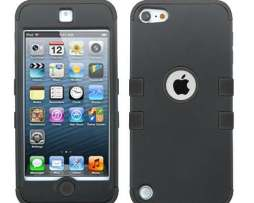 Funda Protector Triple Layer Ipod Touch 5 Negro Doble