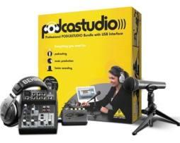 Kit Grabación Mezcladora Audífonos Behringer Podcast Studio