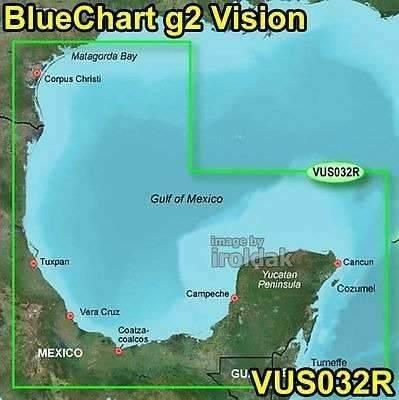 Mapa Nautico Garmin Bluechart Golfo De Mexico G2 Vision