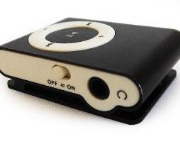 Reproductor Mp3 4gb Tipo Shuffle + Cargador De Pared Negro