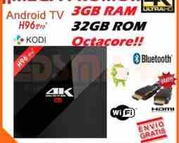 Tv Box H96 Pro Plus 4k 3gb 32gb Kodi 17 Android 6 Canales