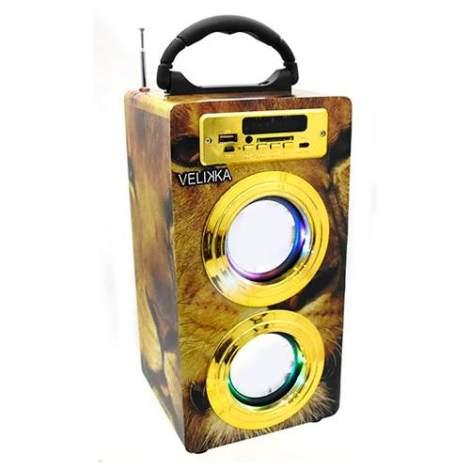 Velikka Bocina Portatil Usb Radio Fm Aux Sd Vkk-2026 Leon