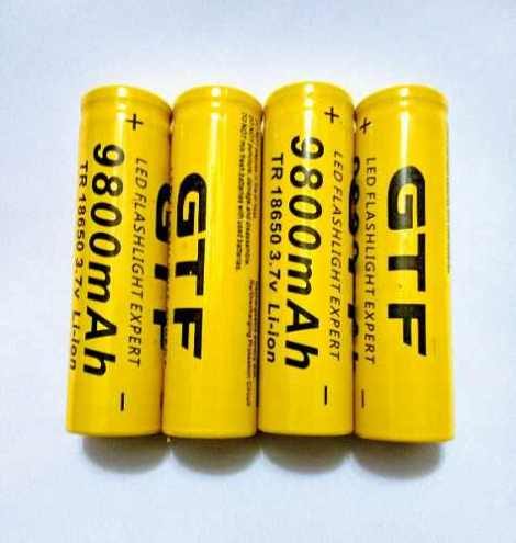 4 Baterias 18650 Pila Gif 9800 Mah Litio-ion 3.7v Recargable