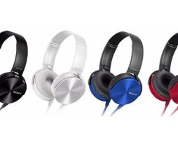 Audífonos Rojos Sony Mdr-xb450ap Originales Manos Libres