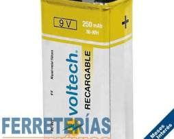 Pila Recargable 9v Uso General Voltech 47203