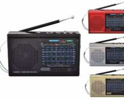 Radio Bluetooh 9 Bandas Con Am / Fm Y Sw1-7 Recargable