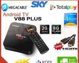 Android Tv V88 Plus 4k 2gb Ram Quad Lollipop Kodi Canales ++