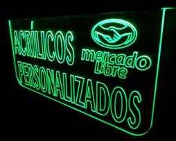 Letrero Luminoso Led - Acrílico Personalizado Neón 16'' Msi