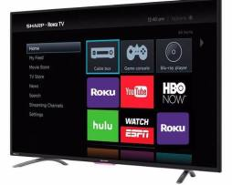 Pantalla Sharp 43 Pulgadas Hd Roku Smart Tv Nueva Hdmi Wi-fi