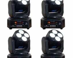 4 Cabeza Movil Led Wash Rgbw Luz Dj Disco Robotica Dmx Luces