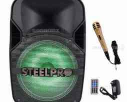 Bafle Amplificado 12 Steelpro Bluetooth Recargable Fm Micro